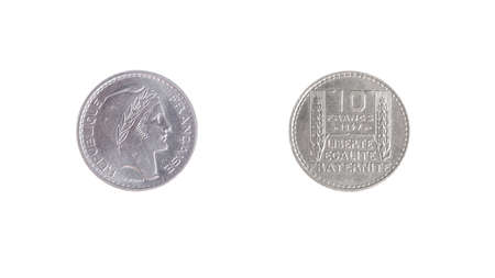 obverse: french coin vintage money obverse reverse Stock Photo