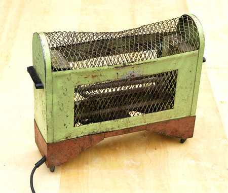 rusted: heater vintage electric rusted