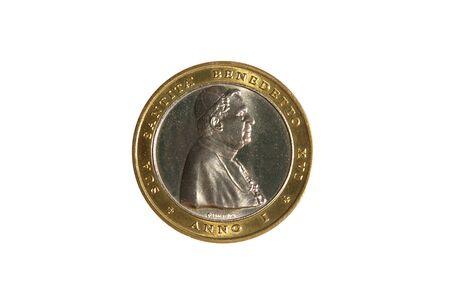 xvi: benedict xvi pope profile coin