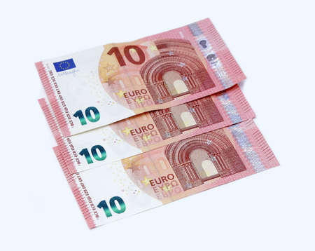 greenback: new ten 10 euro banknote greenback paper money