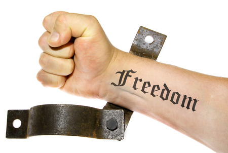 freedom: freedom fight hand isolated
