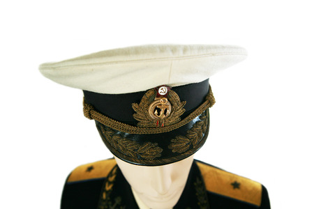 admiral: soviet navy officer in uniform admiral  isolated