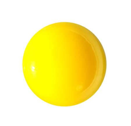 raw shining yello egg yolk isolated on white background photo