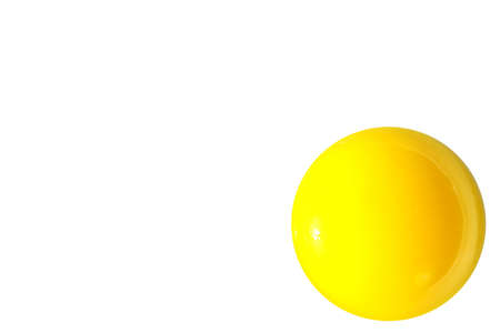 yello: raw shining yello egg yolk isolated on white background Stock Photo