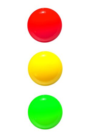 traffic lights icon red yellow green on white background photo
