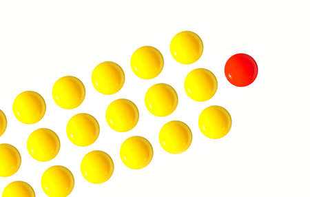 multiple personality: Leader egg yolk one standing out from the crowd chief executive officer tending up