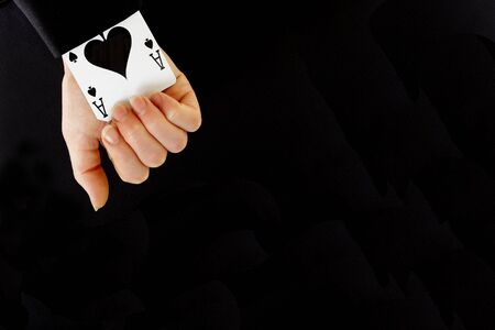 strongest: an ace up your sleeve on black background showing