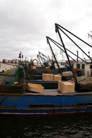 trawler: trawler equipment fishing boat Stock Photo