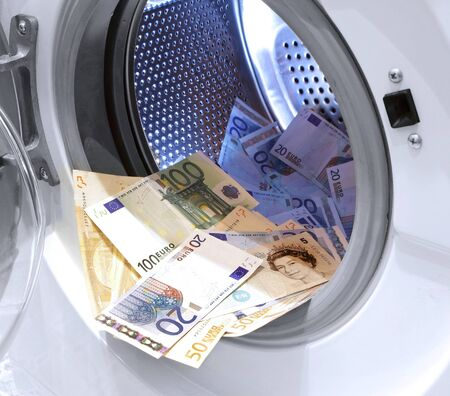 money laundering problem illegal cash euros and pounds