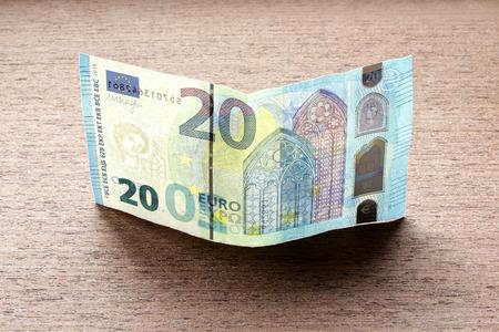 twenty euro banknote: new twenty 20 euro banknote greenback paper money issue 2015 obverse reverse