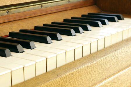 ebony: vintage piano keyboard ebony and ivory