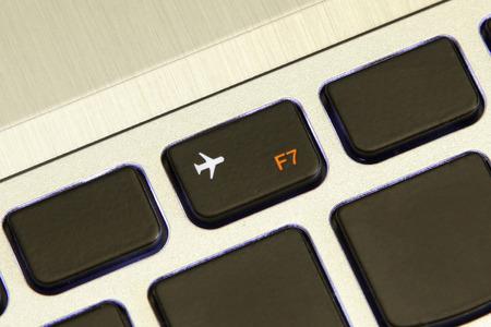 flight mode: computer f7 key turn on off flight airplane safe mode metallic