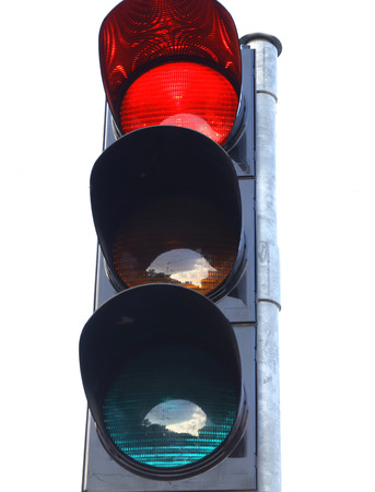 traffic lights icon red yellow green on white background stop