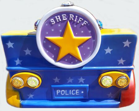 sheriff police cop car pickup vehicle kid attraction model authority