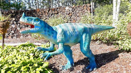 deltadromeus dinosaur predator reptile wild jurassic park ready to attack