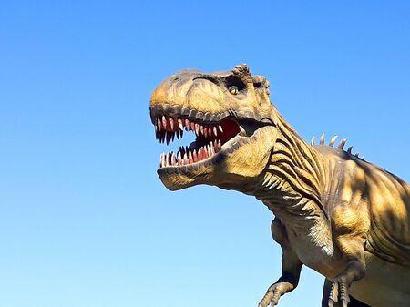 tyrannosaurus t rex dinosaur predator reptile wild jurassic park ready to attack
