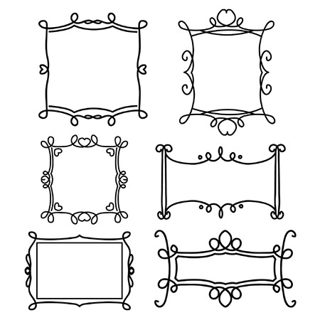 decorative line: decorative frame line set