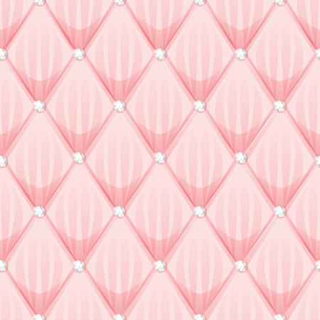 Abstract Rabarber en diamant op roze achtergrond, vector patroon Stock Illustratie