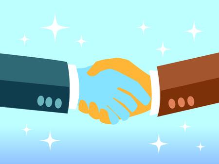 Agitare la mano, il successo nella negoziazione commerciale Archivio Fotografico - 80875720