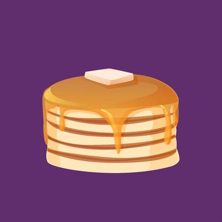 cute pancake cartoon isolated