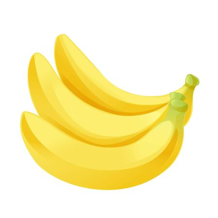 cartoon graphic vector banana white background isolated Foto de archivo - 134592282