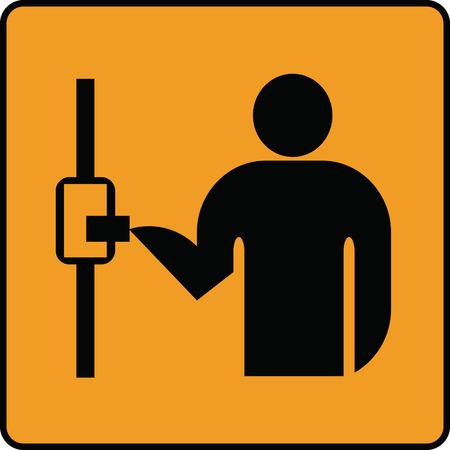 S'il vous plaît valider votre ticket en signe de transport public