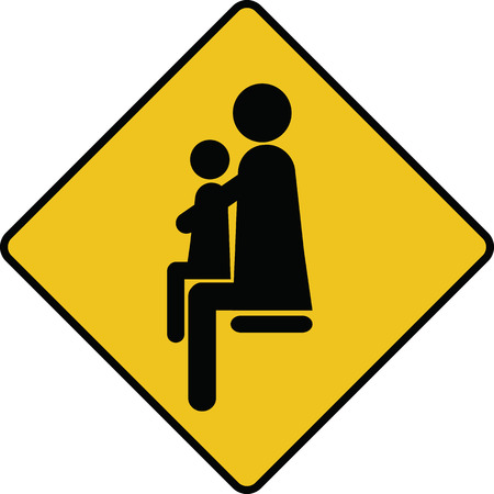 place for children: place for parents with children sign icon