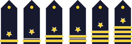 in the ranks: military ranks color vector illustration on white background Illustration