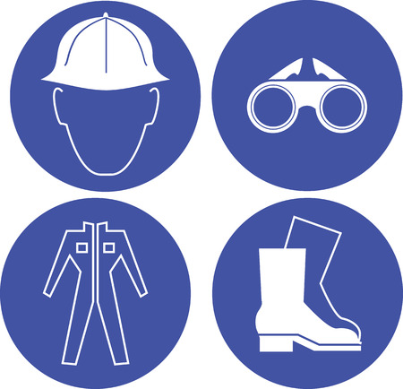 protective: Set of construction tools icons vector illustration Illustration