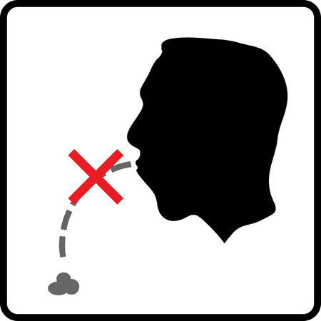 Prohibit signs for healthcare and rude behavior Illustration