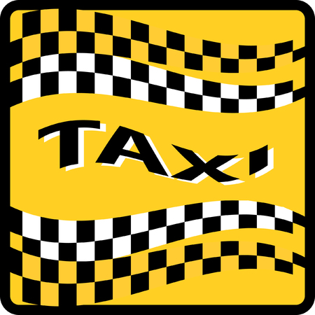 old phone: Taxi sign vector illustration