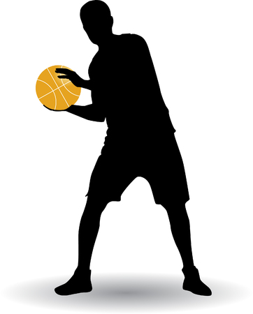Basketball player silhouette.