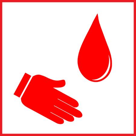 Blood donation color vector illustration Ilustrace