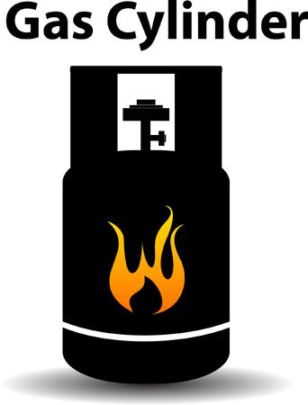 Gas propane butane danger sign Vector Illustration