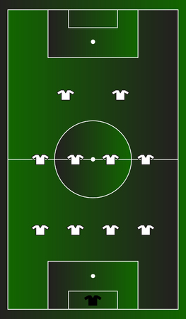 Soccer playground gradient with team formation