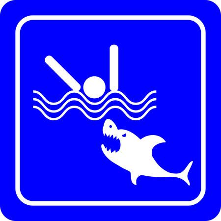 Sharks - No swimming sign