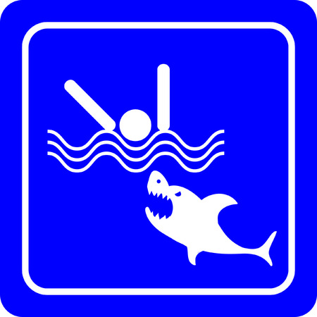 Sharks - No swimming sign