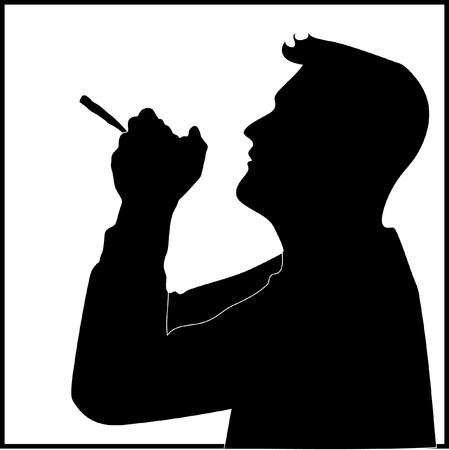 Man who smoked marijuana or tobacco.