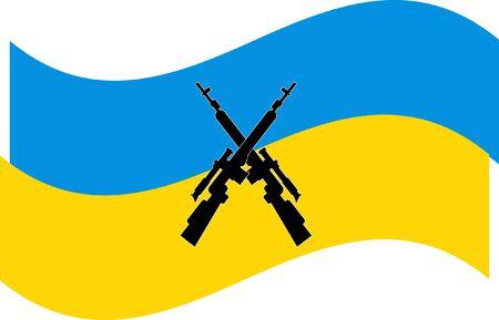 Ukraine conflict flag design.