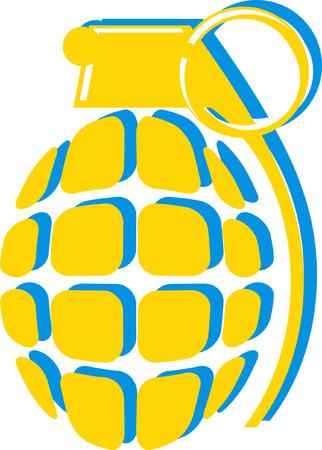 Yellow bomb illustration.
