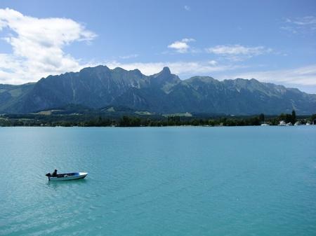 Boat on Lake Thun, Switzerland