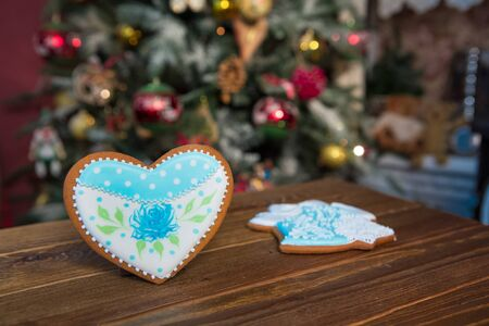 gingerbread cookies: gingerbread cookies in the Christmas interior