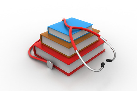 Medical text books photo