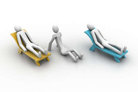 3d people resting photo