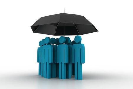 business people under an umbrella photo