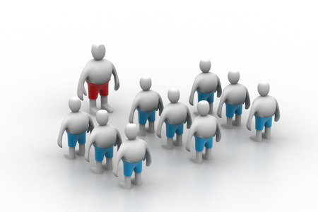 cheer leader: Leader speaking to audience  3d rendered illustration
