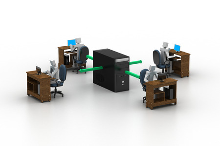 Computer network  Conceptual image Фото со стока
