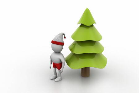 x mas: X mas tree and santa man