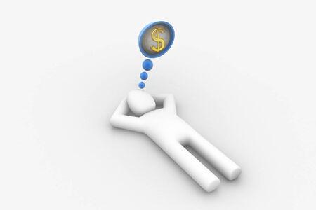 laying business man thinking finance photo