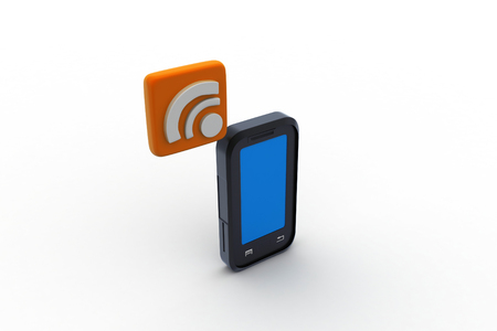 smart phone with rss sign Stock Photo - 26163067